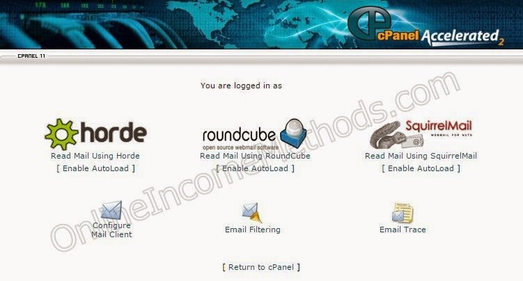 Email Client Apps in cPanel WebMail