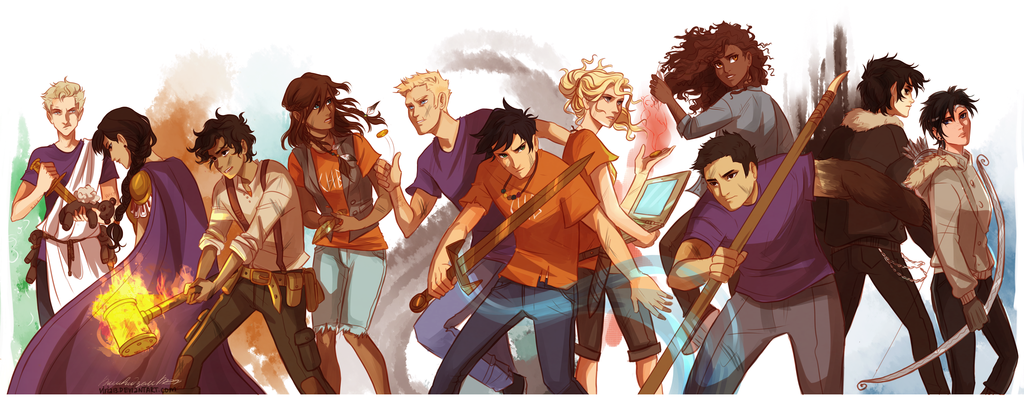 The Reading Addict: Fan Art Friday: The Heroes of Olympus ...
