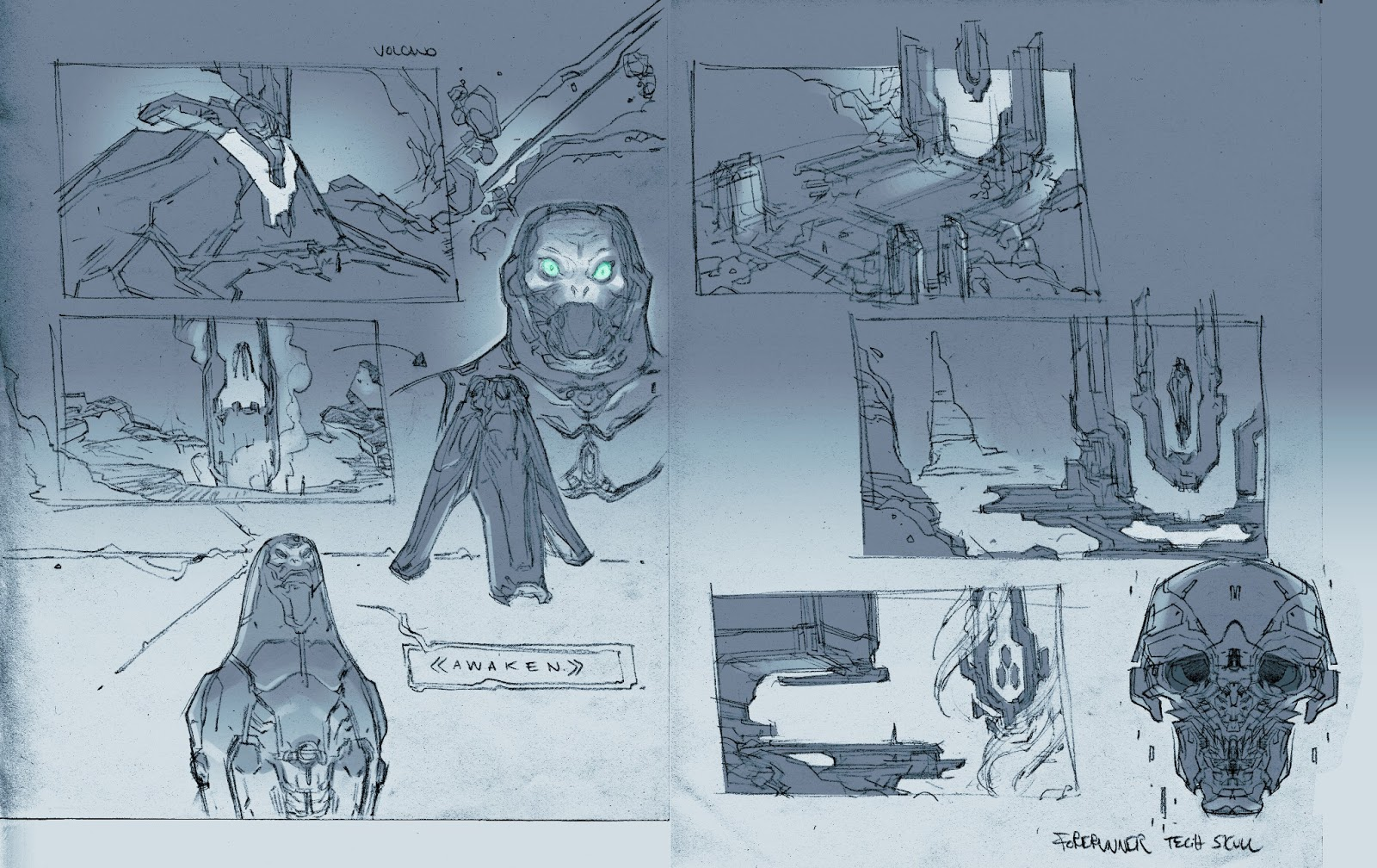 Halo 4 Concept Art By Paul Richards Featuring Space Whales