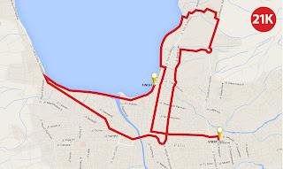Rute 21KM Palu Nomoni International Marathon 2016 pemerintah kota palu sulawesi tengah