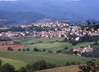 The hilltop town of Bibbiena