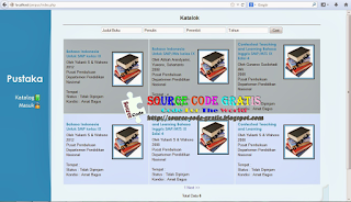 Free Download PHP Source Code Sistem Informasi Perpustakaan WEB