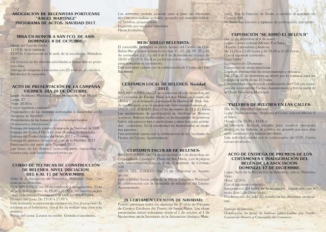 TRIPTICO ACTIVIDADES NAVIDAD 2017 INTERIOR