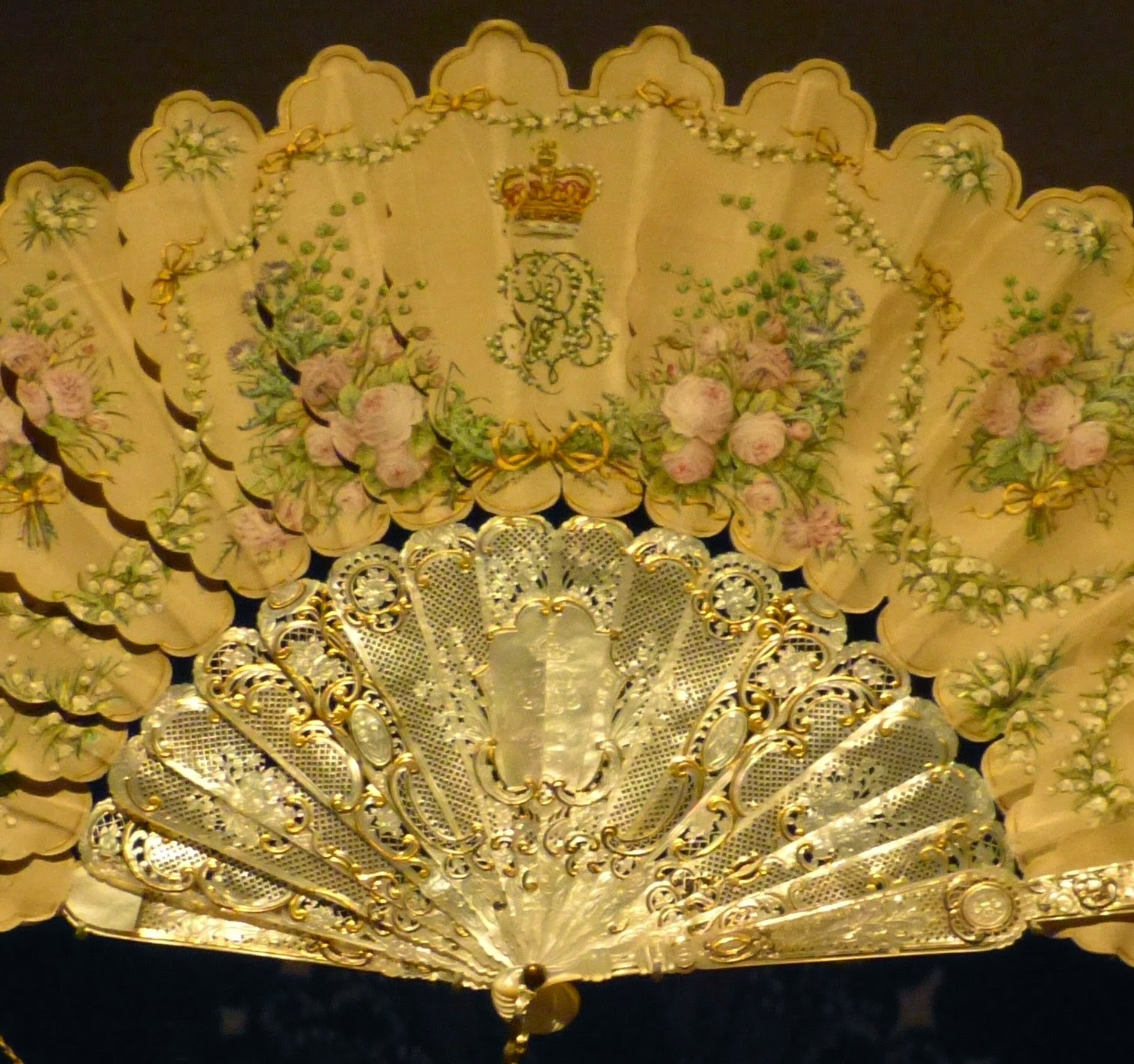 Detail from Queen Victoria's birthday fan (c1858)