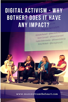 Digital activism panel at BritMums Live Conference