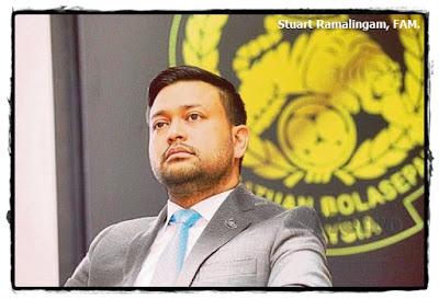 Gambar Stuart Ramalingam, Persatuan Bolasepak Malaysia.
