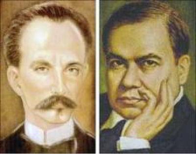 Resultado de imagen para Fotos de José Martí y del poeta nicaragüense Rubén Darío