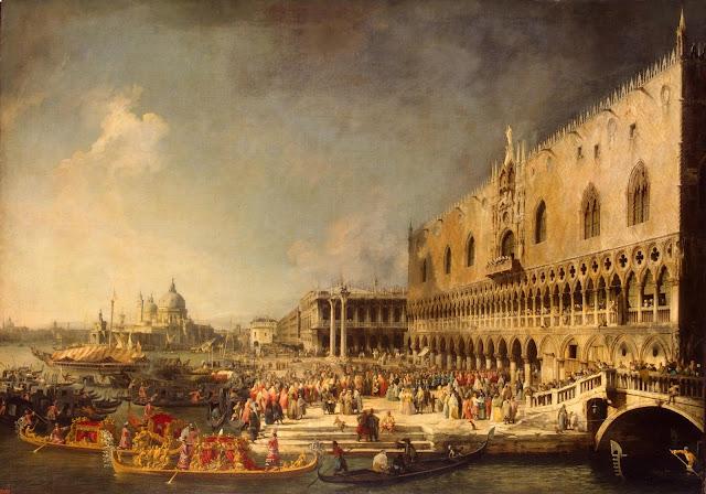Canaletto - Llegada del embajador francés a Venecia - ca. 1740