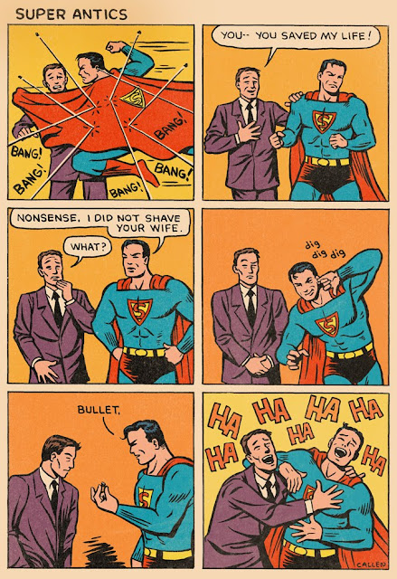 Funny Superman Antics Cartoon Picture