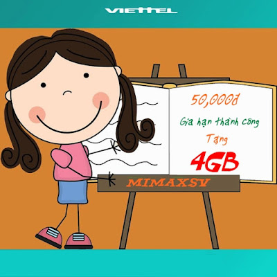 Viettel  tặng 100% dung lượng khi gia hạn thành công gói 3G MimaxSV