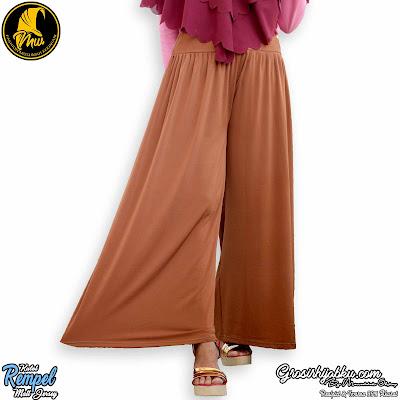 Celana kulot panjang wanita muslimah bahan jersey ukuran jumbo