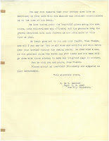 second page of letter to Pishon's sister from Captain Galiher