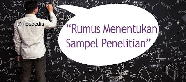 Rumus Menentukan Sampel Penelitian dengan Cepat dan Mudah