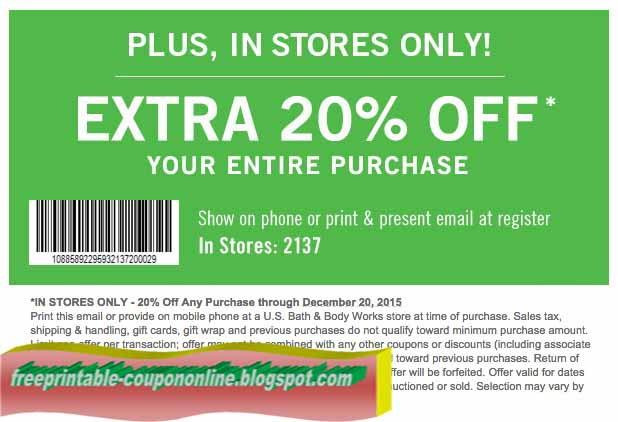 Body shop discount coupons