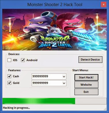 Download Free Monster Shooter 2 (All Versions) Hack Unlimited Cash,Gold 100% working and Tested for IOS and Android MOD.