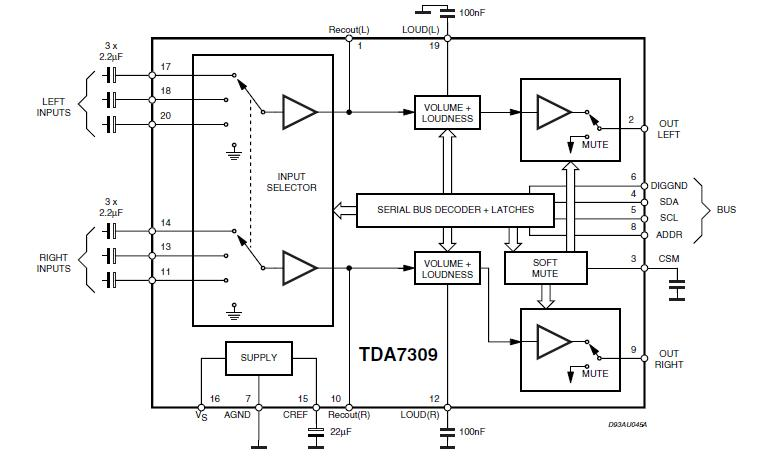 Tda 7309 Digital Audio Processor Circuit