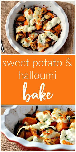 Sweet Potato and Halloumi Bake