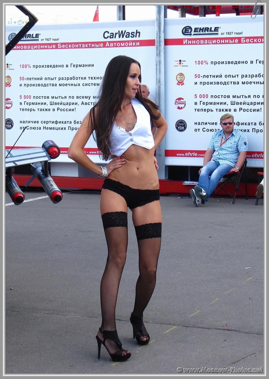 Sexy girl dancing in bikini