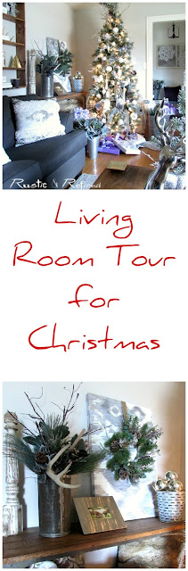 Christmas Decor in the Living Room using modern and budget friendly tips and tricks.