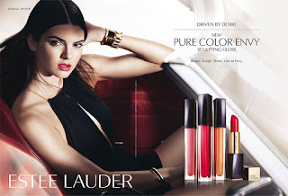 Kendall Jenner stars in Estee Lauder's Pure Color Envy Sculpting Gloss ad campaign