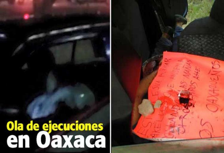 Jornada violenta deja nueve ejecutados en Oaxaca