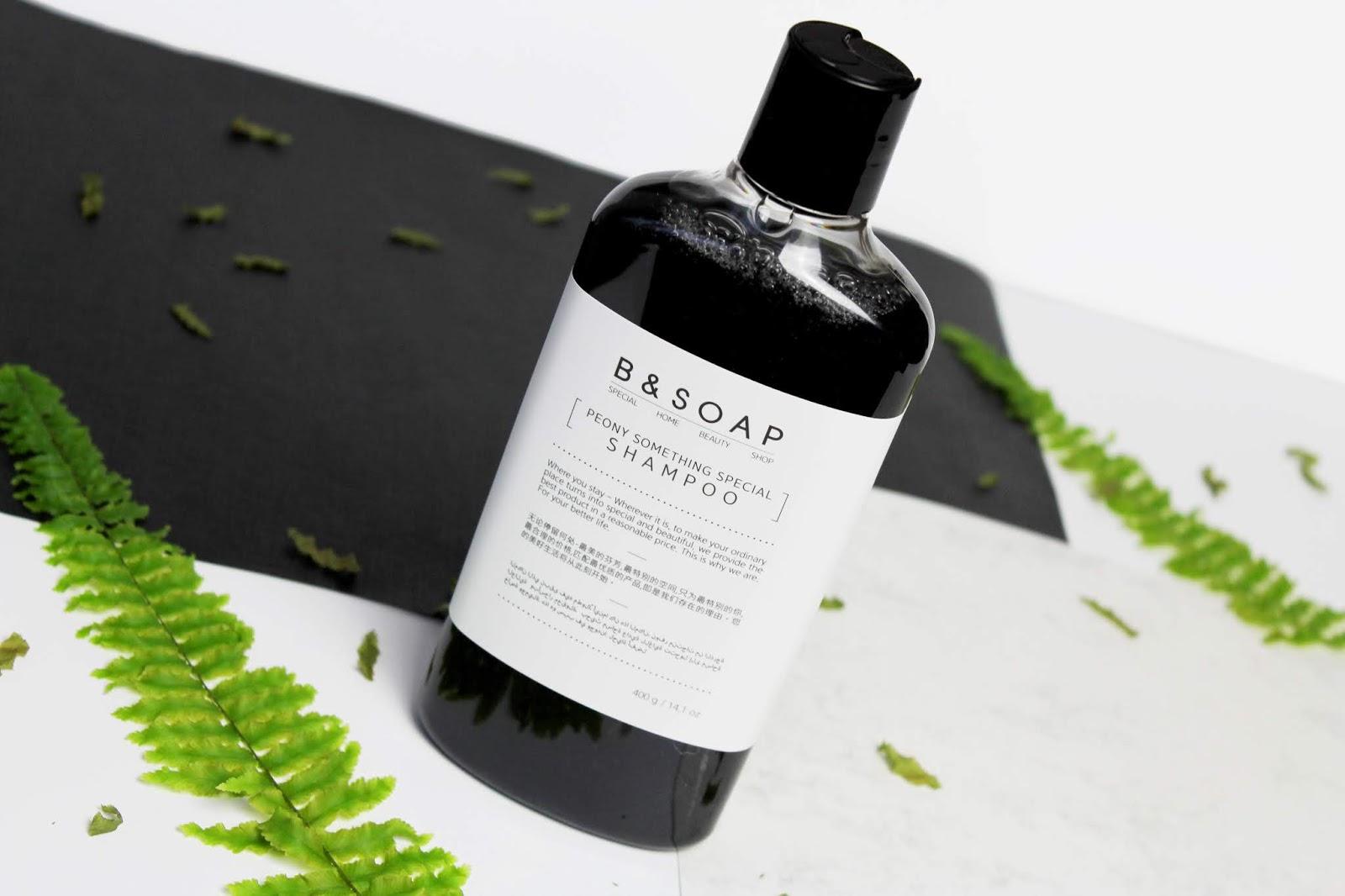 B&SOAP, Peony Something Special Shampoo and Treatment - Delikatny szampon do codziennego stosowania oraz odżywka intensywnie wygładzająca włosy