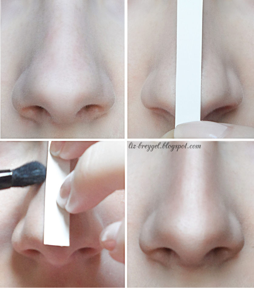 Make Your Nose Look Smaller Thinner slimmer Contouring pictorial liz breygel