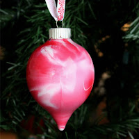 Paint Swirled Glass Ornaments