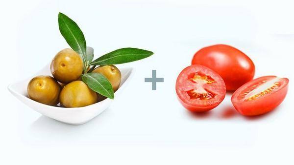 Quả ô liu + Cà chua