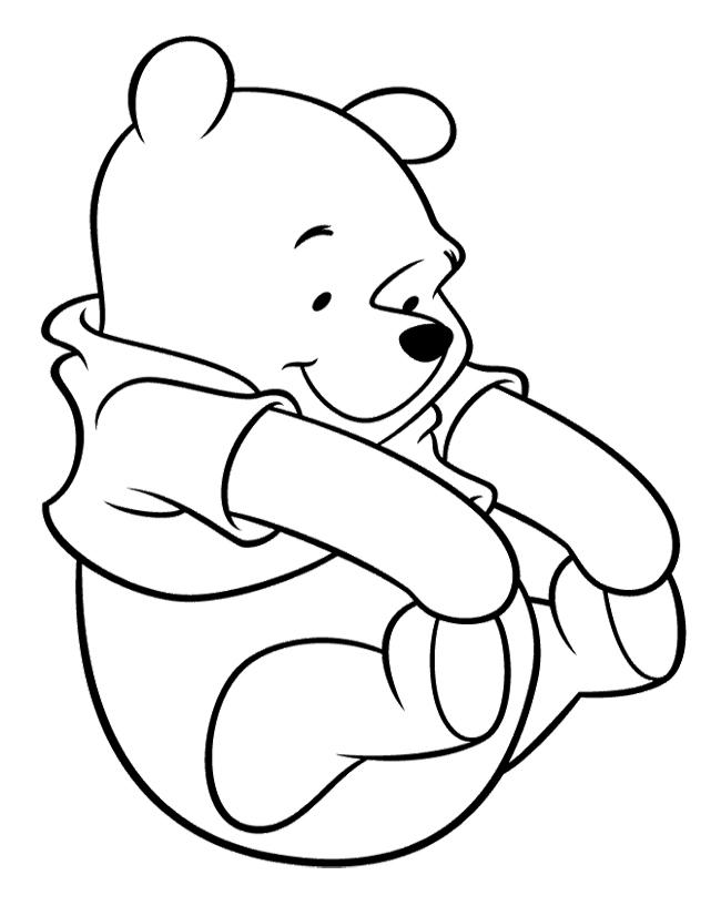 Tranh tô màu chú gấu đáng yêu, dễ thương cho các bé tập tô 4