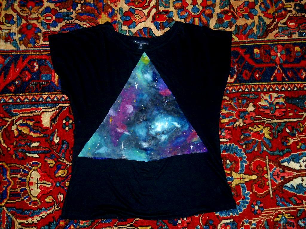 Diy Tries Tutorial Hipster Galaxy Print Shirt Diy