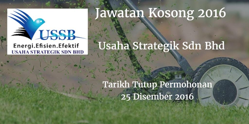 Jawatan Kosong Usaha Strategik Sdn Bhd 25 Disember 2016