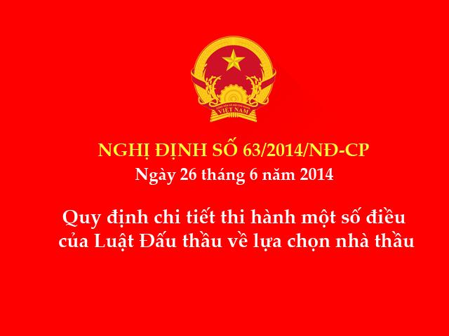Nghị định số 63/2014/NĐ-CP ngày 26/6/2014 của Chính phủ
