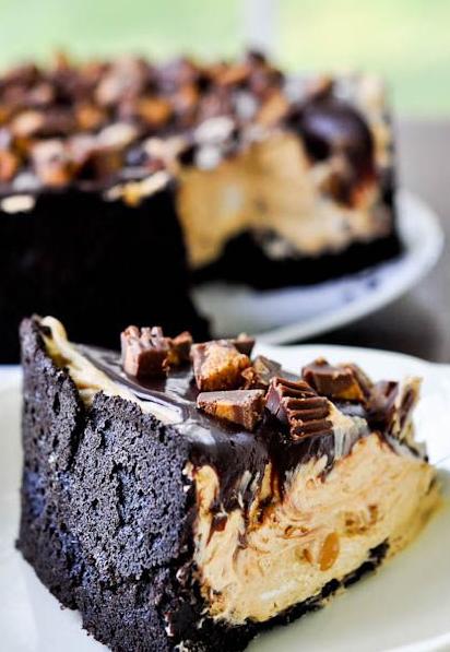 Chocolate Peanut Butter Torte