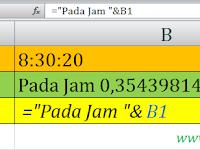 Cara Menggabungkan Data Teks dan Waktu (Jam) di Excel