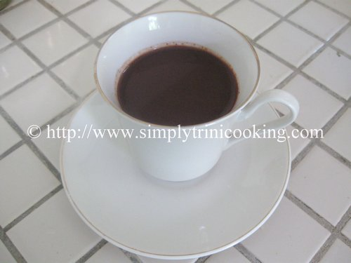 coffee with cocoa, chocolate coffee