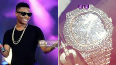 Wizkid and his Diamond Patel Philippe