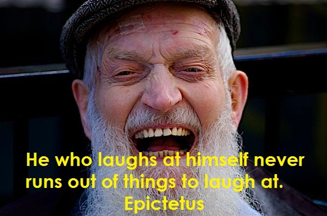 epictetus quotes he who laughts at himself