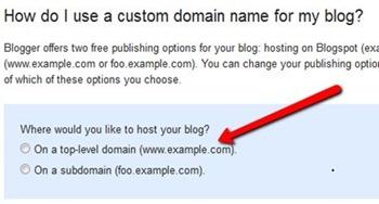 How do I use a custom domain name for my blog?