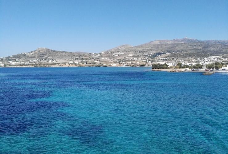 antiparos mer bleue