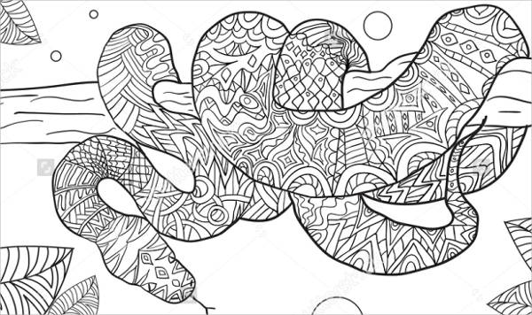 Decisive image regarding snake coloring pages printable