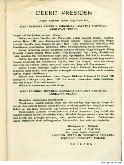 Dekret Presiden 1959 - berbagaireviews.com
