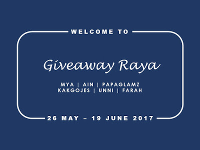 Giveaway Raya By Mya And Friends