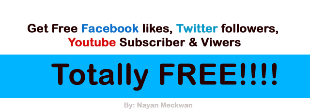 How to Get Free Likes, Twitter Followers & Youtube Subscribers, and also your website traffics?