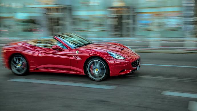Wallpaper: Speed. Sport Car. Convertible Ferrari