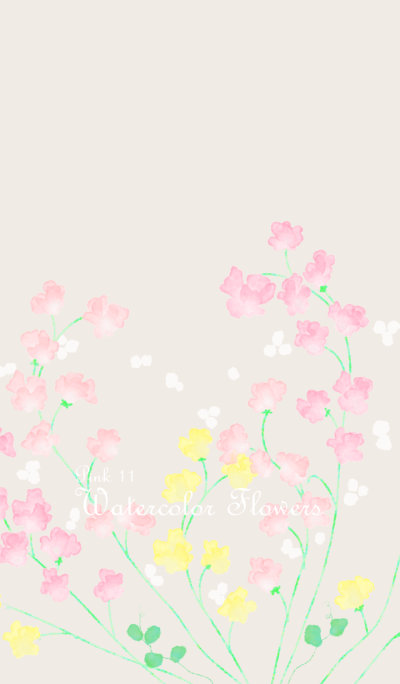 Watercolor Flowers[Sweet pea]/Pink 11