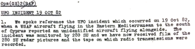 RAF File - Cold War spyplane incident