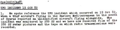 RAF File - Cold War spyplane incident