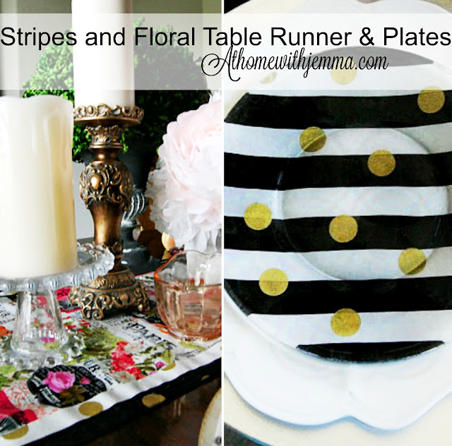 easy-fast-project-customizing-plates and tablerunner- At Home With Jemma