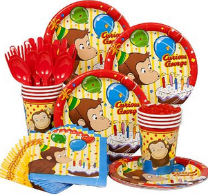 curious george birthday set
